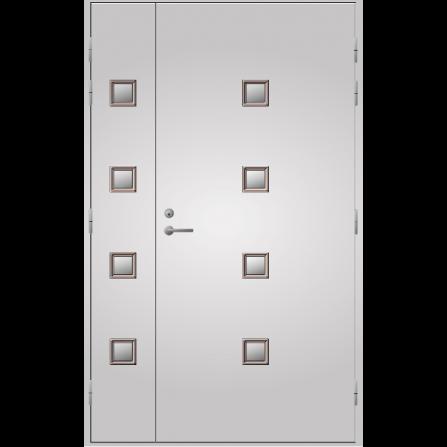 Pihla Ulko-ovi UO 205 Lasilevikkeellä Valkoinen NCS S 0502-Y