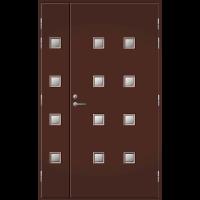 Pihla Ulko-ovi UO 206 Lasilevikkeellä Tummanruskea RR32