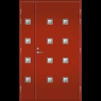 Pihla Ulko-ovi UO 206 Lasilevikkeellä Tuvanpunainen NCS S 4050-Y90R
