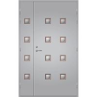 Pihla Ulko-ovi UO 206 Lasilevikkeellä Vaaleanharmaa NCS S 2500-N
