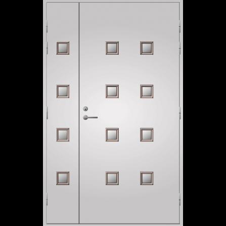 Pihla Ulko-ovi UO 206 Lasilevikkeellä Valkoinen NCS S 0502-Y