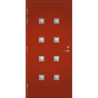 Pihla Ulko-ovi UO 206 Tuvanpunainen NCS S 4050-Y90R