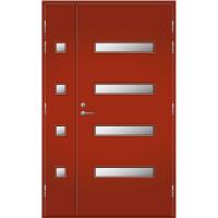 Pihla Ulko-ovi UO 208 Lasilevikkeellä Tuvanpunainen NCS S 4050-Y90R
