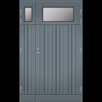 Pihla Ulko-ovi UO 210 Lasilevikkeellä Harmaa RR22