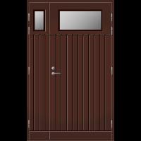 Pihla Ulko-ovi UO 210 Lasilevikkeellä Tummanruskea RR32