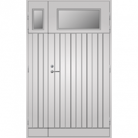 Pihla Ulko-ovi UO 210 Lasilevikkeellä Valkoinen NCS S 0502-Y