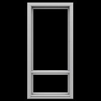 Ranskalaisen parvekkeen ovi Valkoinen NCS S 0502-Y