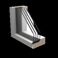 Wood Alu 4 layer corner