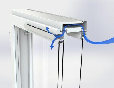 KLIK-venttiilin suoraversio on korvausilmaventtiili ikkunaan.