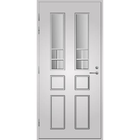 Pihla ulko-ovi UO125. Vaalean harmaa.  Moduulimitta 10x23