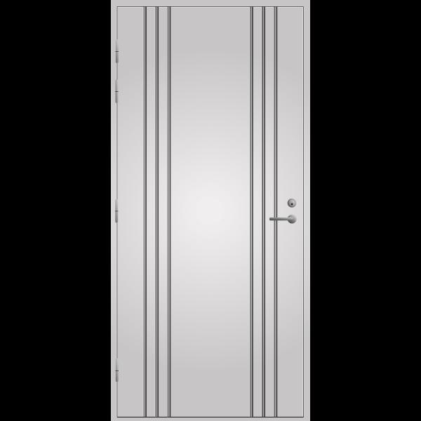 Pihla ulko-ovi UO173. Valkoinen, vasenkätinen. Moduulimitta 10x21