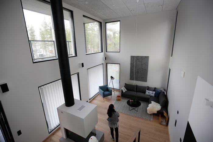 Asuntomessut olohuoneen ikkunat