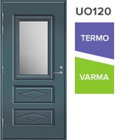 Lasiaukollinen ulko-ovi UO120, vasenkätinen