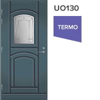 Ulko-ovi UO130 vasenkätinen lasiaukolla
