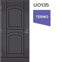Ulko-ovi tummanharmaa umpiovi UO135 vasenkätinen