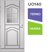 Pihla ulko-ovi lasiaukolla koristeristikolla valkoinen UO140