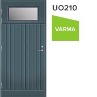 Pihla ulko-ovi UO210 vasenkätinen lasiaukko yläreunassa